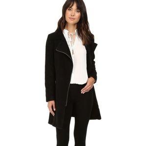 BB Dakota Shaggy 'Liezel' Black Wool Coat